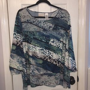 Alfred Dunner plus size 2X top blouse